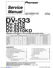 Pioneer DV-3310 Manuals