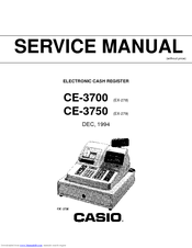 Casio CE-3750 Manuals