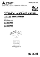 Mitsubishi SEZ-KD71VAQ Manuals
