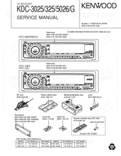 Kenwood KDC-3025 Manuals