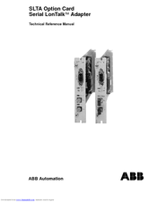 Abb SLTA Option Card Serial LonTalk Manuals