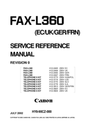 Canon FAX-L360 Manuals