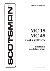 Scotsman MC 15 Manuals