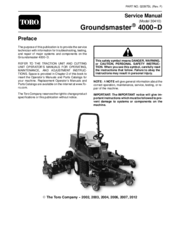 Toro Groundsmaster 4000-D Manuals