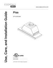 Zephyr Pisa ZPI-E36AG290 Manuals