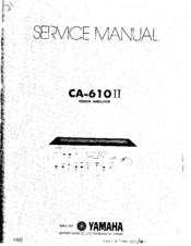 Yamaha CA-610 II Manuals