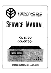 Kenwood K-5700 Manuals