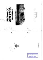 Yaesu FRG-9600 Manuals