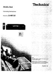 Technics SJ-MD150 Manuals