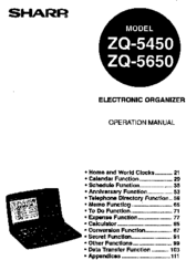 Sharp ZQ-5450 Manuals