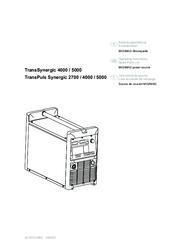 Fronius TransPuls Synergic 2700 Operating Instructions Manual