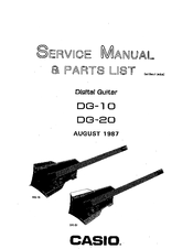 Casio DG-10 Manuals