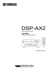 Yamaha DSP-AX2 Manuals