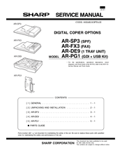 Sharp AR-SP3 (SPF) Manuals