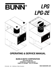 Bunn LPG-2E Operating & Service Manual
