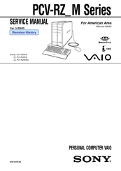 Sony PCV-RZ-M Series VAIO Service Manual
