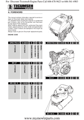 Tecumseh BH 37 Manuals