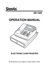 Sam4s ER-150II Manuals