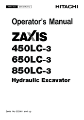 Hitachi ZAXIS 450LC-3 Manuals