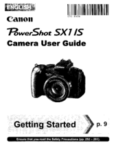 Canon PowerShot SX1 IS Manuals