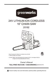 Greenworks 20182 Manuals