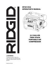 Ridgid OF25150A Manuals