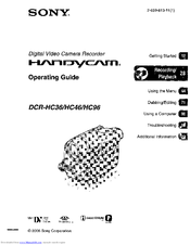 Sony DCR-HC96 Manuals