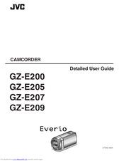 Jvc Everio GZ-E207 Manuals