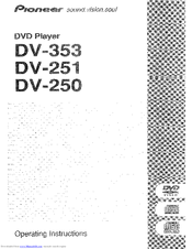 Pioneer DV-250 Manuals
