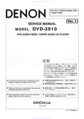 Denon DVD-3910 Manuals