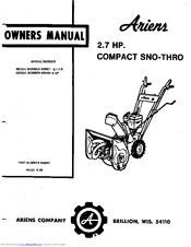 Ariens 932001 Manuals