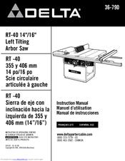Delta RT-40 Manuals