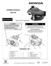 Honda GSV190 Manuals