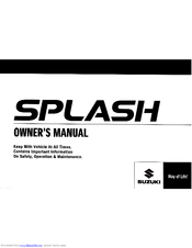 Suzuki Splash Manuals