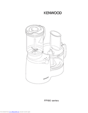 Kenwood FP180 series Manuals