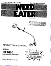 Weed Eater LT7000 Operator's Manual