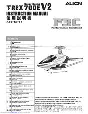 Align T-REX 700E F3C V2 KX018E11T Manuals