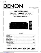Denon AVC-3030 Manuals