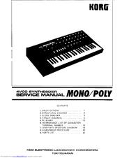 Korg 4VCO Mono/Poly Manuals