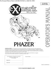 Exmark Phazer Manuals