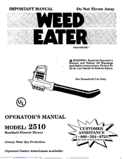 Weed Eater 2510 Manuals