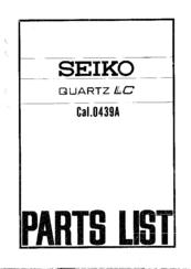Seiko 0439A Manuals