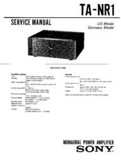Sony TA-NR1 Manuals
