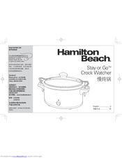 Hamilton Beach Stay or Go Crock Watcher C33357A Manuals