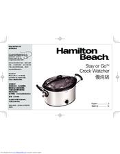 Hamilton Beach Stay or Go C33149A Manuals