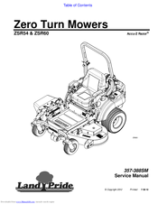 Land Pride Accu-Z Razor ZSR54 Manuals