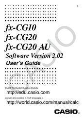 Casio FX-CG20 Manuals