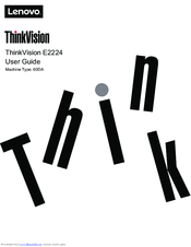 Lenovo THINK VISION E2223 Manuals