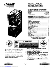 Lennox G26 Series Manuals