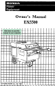 Honda Power Equipment Ex5500 Owner S Manual Table Of